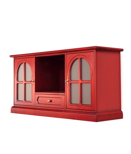 Red tv cabinet for living room. Sku 4040-t-red