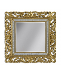 majestic mirror, squared mirror, bedroom mirror, hallway mirror, handmade mirror, Greek fret mirror, gold leaf mirror, silver leaf mirror,