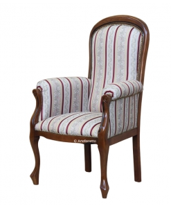 high backrest armchair, living room armchair, wooden armchair, padded armchair, classic armchair,