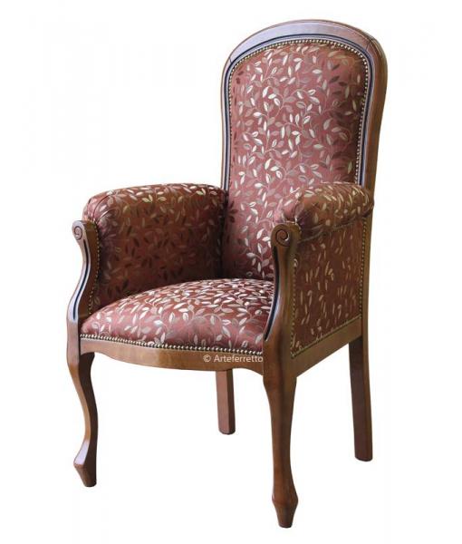 high backrest armchair, living room armchair, wooden armchair, padded armchair, classic armchair,