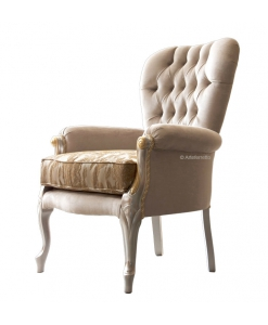 soft armchair for living room, wooden armchair, living room armchair, classic armchair
