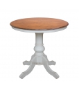 two tones round table, rounded table, classic round table, classic style table, dining room table, side table, wooden table, roun table in wood