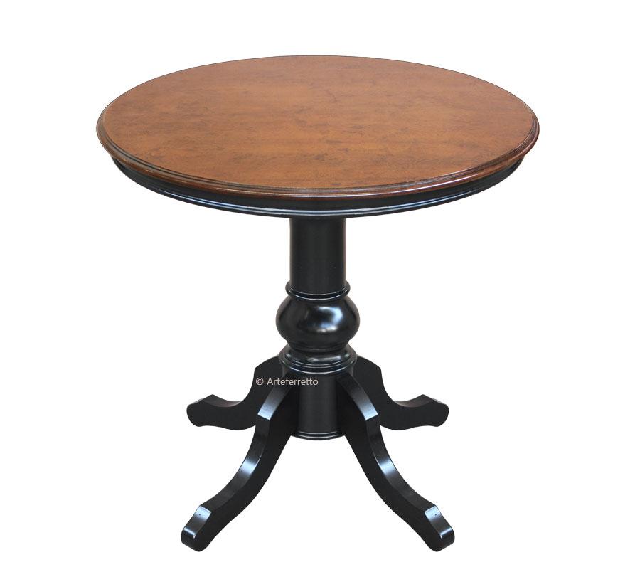 Two Tones Round Table 80 Cm Ferrettohome