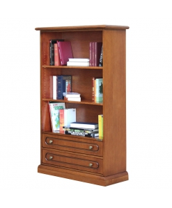 open shelving bookcase 2 drawers, office bookcase, bookshelf, wooden bookcase, classic style bookcase, 2 drawers bookcase