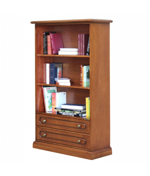 Open shelving bookcase 2 drawers. Sku 325-C