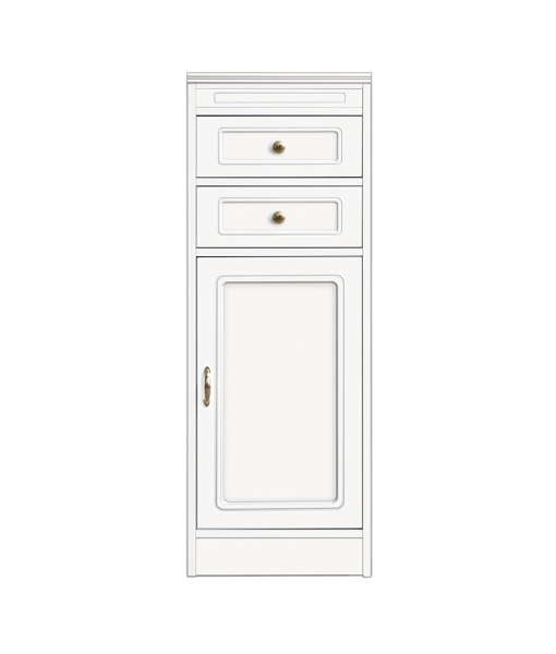 Multi-purpose cabinet 2 drawers, modular cabinet, wooden modular cabinet, made in italy