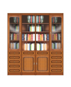 wall bookcase in wood, wooden bookcase, living room bookcase, wood furniture,