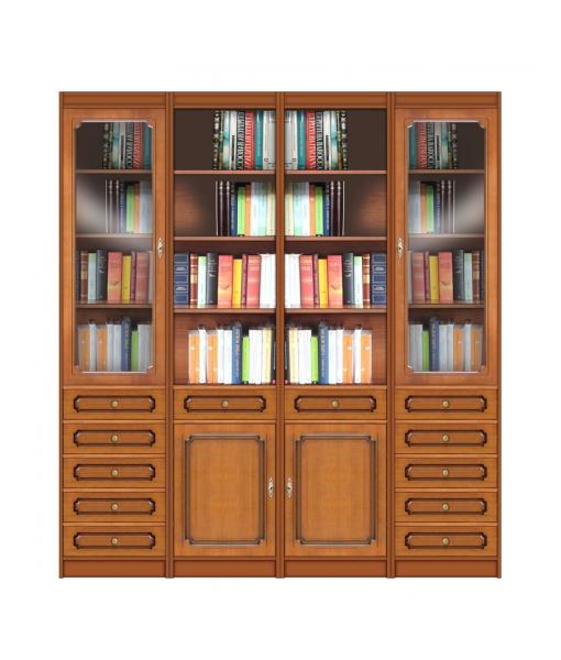 Wall bookcase in wood. Sku ec-com-10