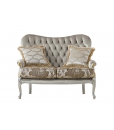 Two seater sofa, small sofa, classic sofa, living room sofa, padded sofa, upholstered classic sofa