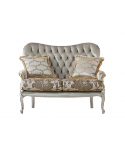 Two seater sofa, small sofa, classic sofa, living room sofa, padded sofa, upholstered classic sofa