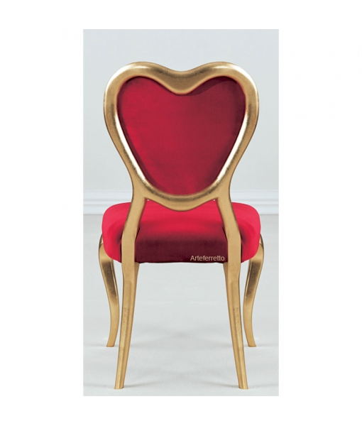 Heart design chair in wood, wooden chair, classic style chair, saint valentine's day