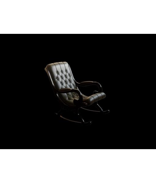 wooden rocking armchair, wooden armchair, rocking armchair, living room rocking armchair, buttoned backrest