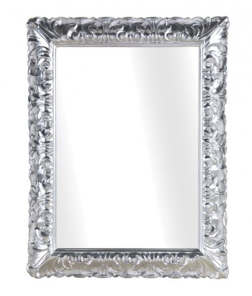 Rectangular mirror in silver leaf finish. Sku db-738
