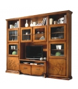 living wall unit, living room furniture, wood furniture, wall unit, classic wall unit, wood wall unit, Arteferretto