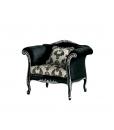 Arteferretto, Luxury armchair, upholstered armchair, black armchair, puffy armchair