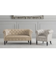2 seater classic sofa, classic sofa, Chester couch, Arteferretto, 2 seat couch, upholstered sofa