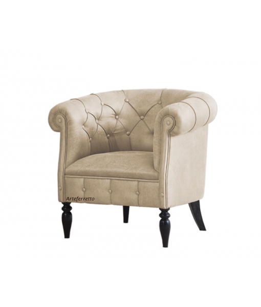 Buttoned tube armchair. Sku ms-d44