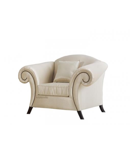 Upholstered armchair for living room. Sku ms-d461