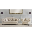 Upholstered set, upholstered couch, living room counf, Arteferretto, Upholstered classic sofa, 3 seater sofa,