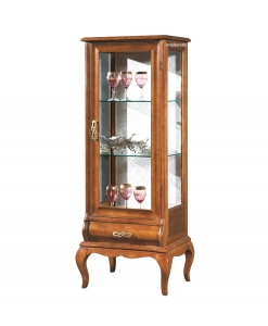 classic showcase, display cabinet, wooden cabinet, glass cabinet, classic cabinet for living room, Arteferretto