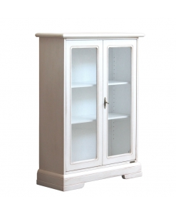 glass door showcase, wood cabinet, living room wood cabinet, solid wood display cabinet, white cupboard, living room cabinet, display cabinet, showcase, Arteferretto