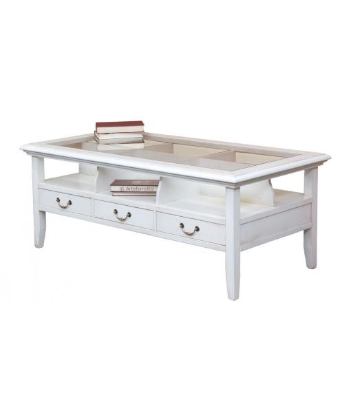 Rectangular coffee table in solid wood. Sku 216-eb
