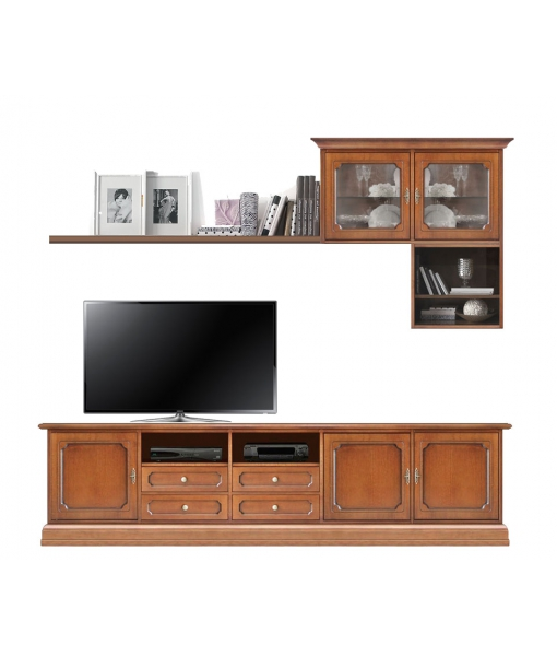 Living room wall unit in wood. Sku 4118