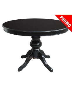 round table, black table, extendable table, black dining table