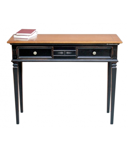 Two tones console table 2 drawers. Sku 6822-n