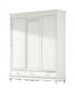 bedroom wardrobe, classic style wardrobe, bedroom furniture, Arteferretto, 3 door wardrobe,