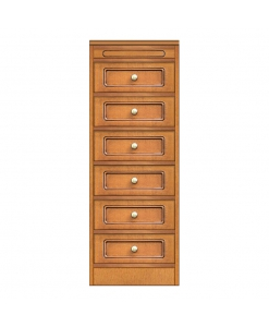 Narrow 6-drawer dresser, 6-drawer chest, narrow chest of drawers