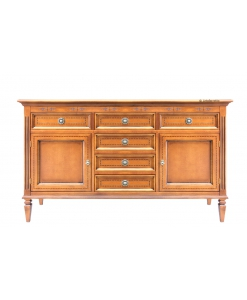 Living room sideboard, wood sideboard, wood cabinet, classic style sideboard, cupboard in wood, Arteferretto