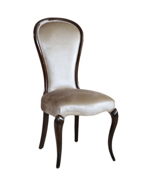 Shapely chair in wood for dining room. Sku MS-49