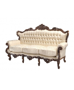 3 seater classic sofa, classic couch, living room sofa, wooden sofa, carved sofa, Arteferretto