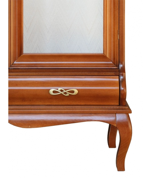 shaped display cabinet, living room display cabinet, wood cabinet. glass cabinet, showcase, classic style showcase, wooden furniture, Arteferretto, glass door cabinet,