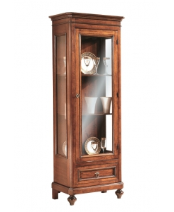 solid wood showcase, wooden showcase, wood display cabinet, living room display cabinet, Arteferretto, living room furniture