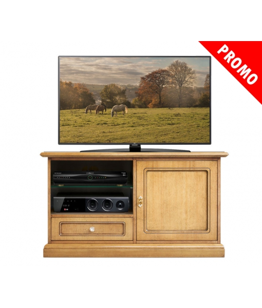 Tv unit for living room. Blonde finish. Sku 3820-qpz-promo