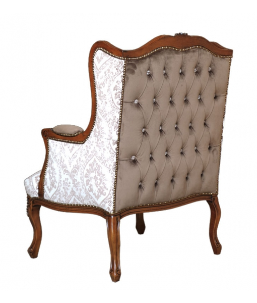 Living room reading armchair, reading chair, living armchair, upholstered armchair, padded armchair, classic armchair, Arteferretto, living room furniture