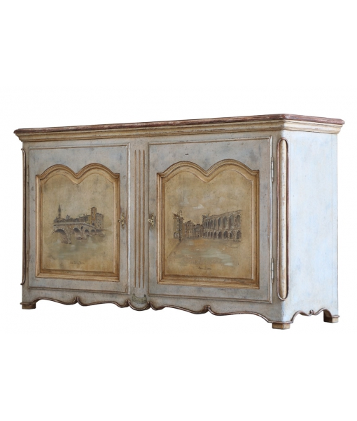 decorated sideboard, handcrafted furniture, Arteferretto, handcrafted sideboard, ancient sideboard, handmade painting, cupboard, traditiona cupboard, painted cupboard
