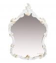 wood frame mirror, entryway mirror, wall mirror, classic style mirror, Arteferretto