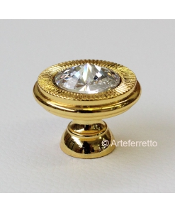 gold knob, gold knobs, furniture knob, swarovski knob,