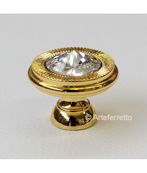 Gold knob for piece of furniture . 25 mm of Diameter. Sku C19-swa