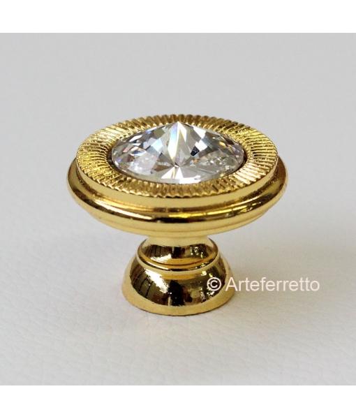 Gold knob for piece of furniture . 25 mm of Diameter. Sku C19-swa