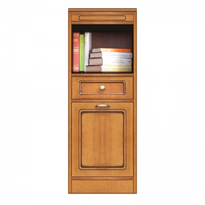 cabinet with open compartment, narrow sideboard, modular bookcase