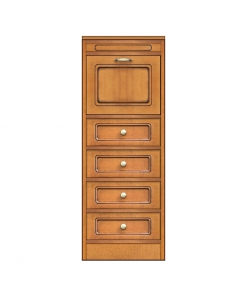 small sideboard, narrow cabinet storage, moudlar wooden sideboard, arteferretto, made in italy