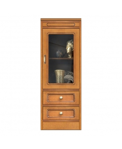 Multi purpose cabinet, display cabinet, low display cabinet, glass door unit, wood cabinet, narrow unit, small storage cabinet, Arteferretto