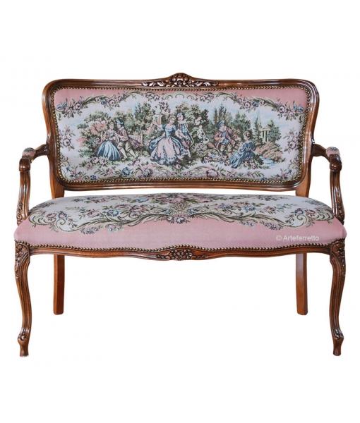 classic sofa, classic furniture, wood sofa, 2 seaters sofa, 2 seats sofa, Arteferretto