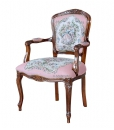 classic armchair, wood armchair, upholstered armchair, classic furniture, Arteferretto