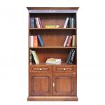 wooden bookcase, living room bookcase, 2 door bookcase,bookshelf in wood, classic style bookcase, Arteferretto