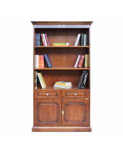 wooden bookcase, living room bookcase, 2 door bookcase,bookshelf in wood, classic style bookcase, Arteferretto